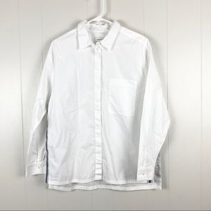 Lacoste | White Button Down Long Sleeve with Slits